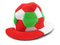 Wholesale Hat World Cup - Wholesale-Free shipping NEW 2015 world cup pleuche brazil, spain, Argentina, germany, italy hat free size for footbal fans