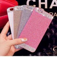 Wholesale Diamond Bling Iphone4 Case - Luxury Acrylic Diamond Rhinestone Glitter Case With Bling Powder Back Cover For iphone4 4s 5 5s 6 4.7 6plus