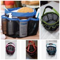 Wholesale Wholesale Totes Baskets - 8 Pocket Mesh Shower Caddy Tote Wash Bag Dorm Bathroom Caddy Organizer with 8 Basket Pockets Storage Package KKA3496
