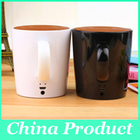 Wholesale Tea Cup Portable - New Tea Cup Portable Speaker Bluetooth Wireless Records As Gift For Your Lover Stereo Music Bluetooth 4.0 ED 010102