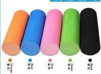 Großhandels-freies Verschiffen Blau Schwarz Rosa orange 6 Farben Whosale billige EVA Foam Roller Yoga Pilates Übungs Back Home Gym Massage 30x15cm