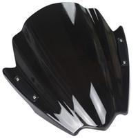 Wholesale Black Street Bikes - Motorcycle Street Bike Windshield WindScreen For 2007-2015 Aprilia Shiver 750 SL750 Mana 850 09 10 11 12 13 14 15 Black