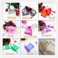 Wholesale Souvenir Pouch - Wholesale-Free Shipping 1pcs 7*9cm 9Colors Drawable Organza Bags Wedding Jewelry Packaging Gifts Pouches Wedding Candy Souvenir Gift Bags