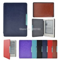 Wholesale Ereader Touch - ultra slim magnetic hard leather cover case for Kobo touch ereader