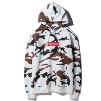Wholesale Trendy Women S Sweaters - Europe and the United States tide brand autumn new men and women couples models trendy camouflage cotton fleece hooded sweater