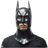 Wholesale People Masks - New Batman Masks Adult Halloween Mask Full Face Latex Caretas Movie Bruce Wayne Cosplay Toy Props