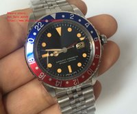 Wholesale Vintage Sapphire - Latest Luxury High Quality Watch BP Factory Maker Asia 2813 Movemen 40mm Vintage GMT 1675 Pepsi Sapphire Mechanical Automatic Mens Watches