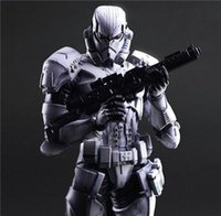 Play Arts Star War Imperial Stormtrooper Black Knight Darth Vader 26cm PVC action Doll Figure Jouets enfants cadeau