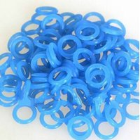 Wholesale Tattoo Gun Rings - Wholesale-Tattoo Rubber O-Rings 200pcs Durable COLORFUL For Tattoo Machine Gun Armturebar Parts Shock Absorption Blue Free Shipping