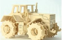 Wholesale Wooden Construction Vehicle Toys - Free Shipping DIY 3D Puzzle Assembling Model Educational Toys Tractor For Sale,Funny Construction Model Kit Educational Toy