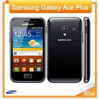 cep telefonu kamera wifi gsm toptan satış-100% Orijinal Samsung Galaxy Ace Artı S7500 cep telefonu WIFI GPS GSM WCDMA 5MP Kamera 3.65 '' Dokunmatik Unlocked Yenilenmiş telefon
