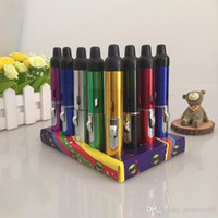 Wholesale herbal lighter resale online - Click N Vape sneak vaporizer Mini Herbal Vaporizer smoking pipe Trouch Flame Lighter with built in Wind Proof torch butane pen