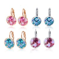 Wholesale New Fashion Jewelry K Gold Plated CZ Crystal Ear Clips Earrings for Women Valentine s Day gift E91