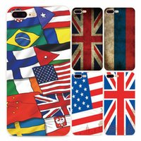 Wholesale French Champagne Brands - National Flags Phone Case For IPhone 7 Plus 6 6s TPU Cases French British American Flags Capa Funda Coque Cover For Iphone 8 5 5s Se
