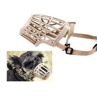 Wholesale Plastic Muzzle - 10x Plastic Puppy Dogs Cage Basket Adjustable Traning Muzzle Bite Bark Chew Control