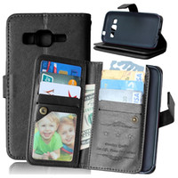 Wholesale Galaxy Grand Leather - Multifunction Wallet Leather Case 9 ID Card Slot Stand Money Photo Pouch For Samsung Galaxy Grand Prime G530 G360 S5 S6 EDGE PLUS Note5 Skin