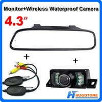 Wholesale Car Rearview Mirror Wireless Camera - 4.3 Inch TFT Car Monitor Mirror Wireless Rearview Camera Auto LCD Screen for Waterproof Night Vision Car Reversing Backup Camera