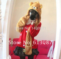 Wholesale Rilakkuma Scarf - Wholesale-Free Shipping Kawaii Plush Rilakkuma Easy Bear Scarf, Hat & Glove Multi-Function,Novelty Gift,Christmas Gift Retail