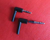 enchufe el auricular diy al por mayor-10 sets / 1 pack Buena DIY negro 3 polos 3.5 mm macho 90 grados en forma de L auriculares estéreo Plug reparación de auriculares Jack Audio Soldering
