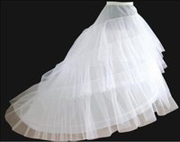 sirena enagua deshuesada al por mayor-Blanco boda accesorios sirena boda nupcial enaguas Slip 1 aro hueso Bone Girls crinolina enaguas para la boda vestidos de novia