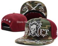chapéus camo vermelho venda por atacado-Atacado-2015 Nova Chegada Hip-Hop Tokoyo Crânio Rua Beisebol Snapback Chapéus Bonés Camo Verde Preto Vermelho Ajustável