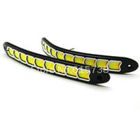 luz de conducción diurna flexible led al por mayor-2 en UN Coche Señales de giro delanteras y luces de circulación diurna DRL Luces de giro diurnas flexibles para automóviles Luces de giro diurnas de 12 V durante el día