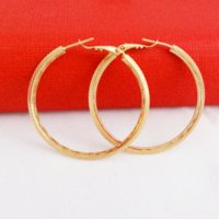 Wholesale Magnetic Titanium Women - Hoop Earrings Real 24K Gold Plated Women Water Resistant Beautiful Earrings earring magnetic earrings titanium