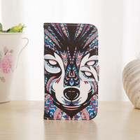 Wholesale s3 case card holder resale online - Animal Colorful Painting Wallet Leather Flip Case With Card Holder For iPhone Plus Samsung Galaxy S3 S4 S5 S6 Edge Note Moto G