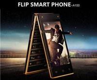 Wholesale Dual Simcard - flip smart phone dual simcard dual digital camera dual touch screen large capacity battery big keys classic A100
