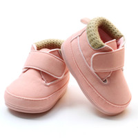 Wholesale Wholesale Shoes For Little Girls - 2016 New Arrival Little Girls Shoes For Autumn Winter Pink Warm Infant Korean Sneakers Baby Walking Shoes In Stock 3KS81205-113