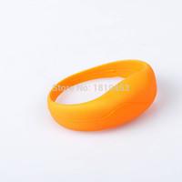 Wholesale Motion Activated Sounds - Silicone Flashing LED Shake Vibration Activated Motion Sensor Bracelet Wrist band bands Disco Bangle
