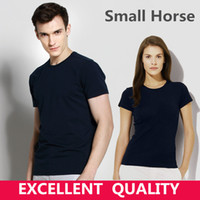 Wholesale mens clothing small - New Brand tshirt 100% Cotton men Clothing Male Slim Fit t shirt Man Small Horse Embroidery T-shirt Casual T-Shirts High Quality mens tops