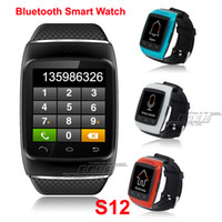 2014 Nouveau Bluetooth Android Smart Watch 1.54''inch Hommes Montres-bracelets ZGPAX S12 pour Smart Phone Dial Sync SMS / appel On Sale 4 Color