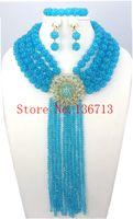 Wholesale Pearl Chunky Bead - Costume African Jewelry Sets 18K Chunky Nigerian Beads Wedding Jewelry Set Luxury Dubai Bead Bridal Jewelry Set BS401-1