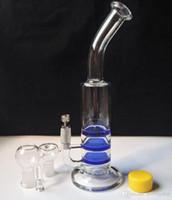 Wholesale 3x glasses for sale - 2015 new X circular Honeycom bongs cyclone perc glass bongs oil rigs glass water pipe bong hookah with titanium nail