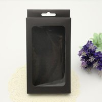 Wholesale Iphone Black Empty Box - Universal Empty Package Box Black Paper Packaging Boxes Retail packing for iphone 6 6S plus 5S Samsung S6 S6 Note 4 DHL shipping