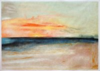 Wholesale William Wall Painting - Free shipping Sunset by William Turner, Hand Painted Wall Art Decoration Oil Painting on Canvas H-0033