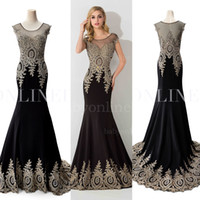 2017 Spandex Mermaid Black Evening Dresses Sheer Jewel Neck com Beads Illusion Back Imagem real Rhinestones Formal Prom Party Vestidos