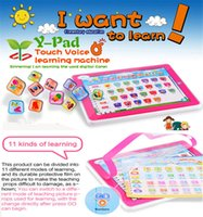 Wholesale Tablet Ypad - A Usufull Kids Toy Pad 11-IN-1 Educational English Learning Machine Tablet Computer YPad laptop baby toys for Children 2 colors