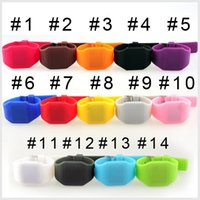 Wholesale Soft Silicone Shapes - Hot selling 13 color new Colorful Soft Led Touch watch Jelly Candy silicone digital feeling screen watches, free shipping(1802002)
