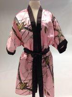 hochzeitsfeier satin roben großhandel-Camo Bridal Robes Getting Ready Bademäntel Hochzeit Dusche Party Favors Bachelorette Party vor der Hochzeit Pics Kimono Robes