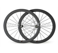Wholesale Oem Road Bike Wheel Rims - carbon wheelset bikes 700c 50mm OEM carbon clincher wheels for road bicycle wheel novatec hubs 23mm wide road rims carbon bike