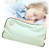 Wholesale Textile Materials - Childrens Pillows Baby Wear Cotton Material Wheat Shell Filler Home Textile Children 0-3 Years Old Light Green Breathable
