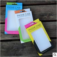farbe kunststoff papier groihandel-Doppelfarbige Universalpapier-Plastik-Kleinpaketverpackungskastenkästen für Telefonkasten iphone 8 7 5S 6 6S plus Rand Samsung-S6 S7