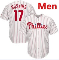 Wholesale El Lights - Mens Women Youth Kids Child Phillies 17 Rhys Hoskins Baseball Jersey Light Blue White Red Grey Gray Green Salute Players Weekend Team Logo