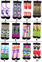 Wholesale Thermal Knee High Socks Women - Women men children Cotton Skateboard socks Kids thermal knee high socks stocking Harajuku 3D printed Unisex sock basketball men's socks