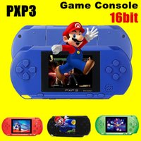 Wholesale Lcd Music Screen - High Quality Game Player PXP3(16Bit) 2.5 Inch LCD Screen Handheld Video Game Player Console 5 Colors Mini Portable TV Game Free DHL 10pcs