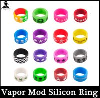 Vape Bands E Сигаретное украшение кремниевого кольца Silicon Non-Slip Rubber Band для E Cig Vapor RDA Atomizer Механические моды 0213083