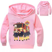 Wholesale fireman t shirts - 2017 Kids T-shirt Fireman Sam Clothes Boys Long Sleeve shirts Hoodies Girls Sweatshirt Cotton Coats For Chidlren T shirt H01