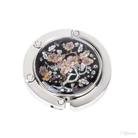 blossoms hangers - New Brand New Plum blossom Pattern Floral Round Folding Handbag Purse Hanger Hook Holder